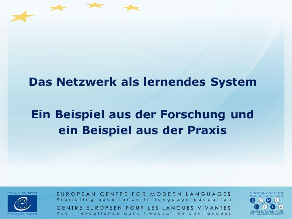 Das Netzwerk als lernendes System Ein Beispiel aus der Forschung und ein Beispiel aus der Praxis
