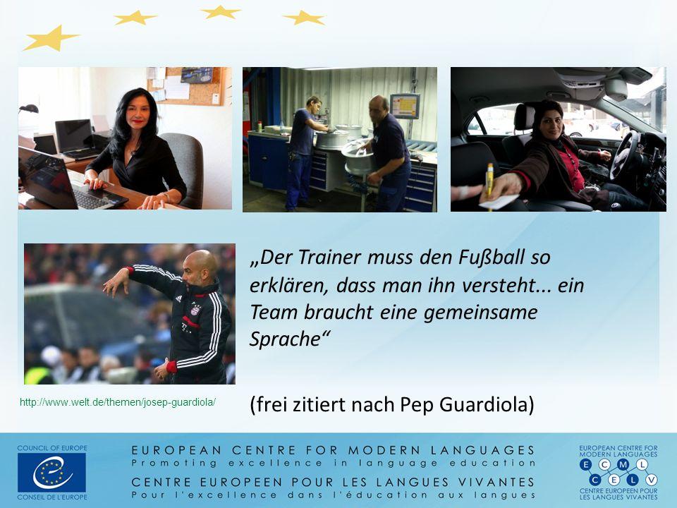"""http://www.welt.de/themen/josep-guardiola/ """" Der Trainer muss den Fußball so erklären, dass man ihn versteht... ein Team braucht eine gemeinsame Sprac"""