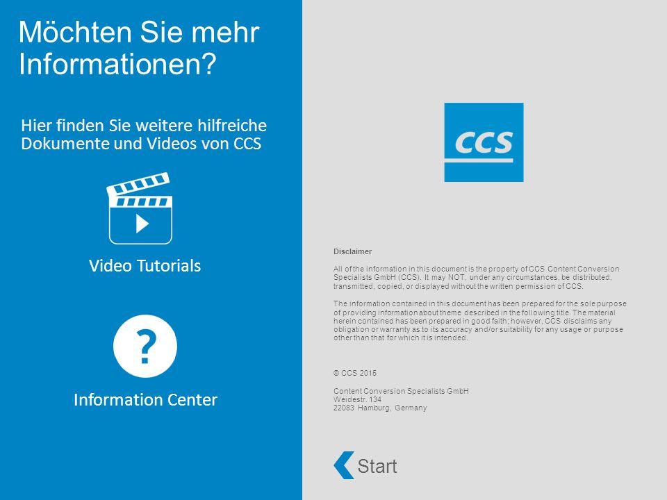 Hier finden Sie weitere hilfreiche Dokumente und Videos von CCS Video Tutorials Information Center Möchten Sie mehr Informationen.