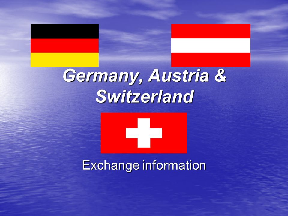 Germany, Austria & Switzerland Exchange information