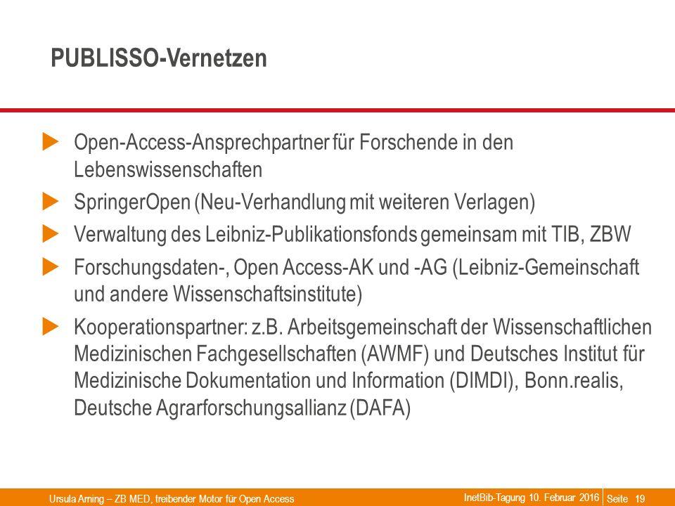 Seite PUBLISSO-Vernetzen  Open-Access-Ansprechpartner für Forschende in den Lebenswissenschaften  SpringerOpen (Neu-Verhandlung mit weiteren Verlage