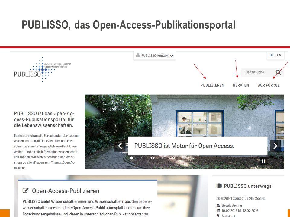 Seite PUBLISSO, das Open-Access-Publikationsportal Ursula Arning – ZB MED, treibender Motor für Open Access InetBib-Tagung 10. Februar 2016 4
