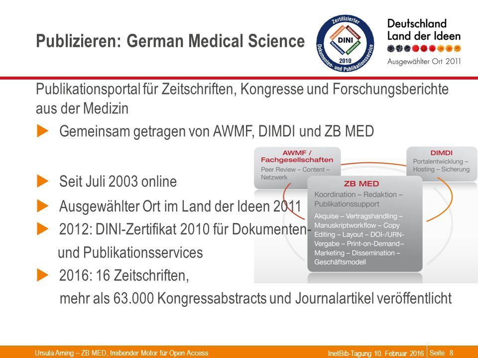 Seite Publizieren: German Medical Science Publikationsportal für Zeitschriften, Kongresse und Forschungsberichte aus der Medizin  Gemeinsam getragen