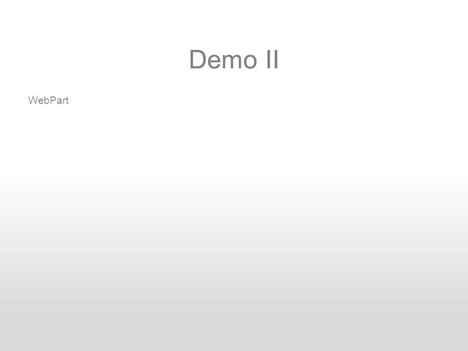 Demo II WebPart