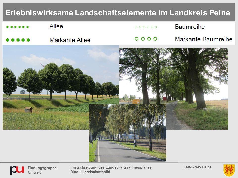 Planungsgruppe Umwelt Landkreis Peine Fortschreibung des Landschaftsrahmenplanes Modul Landschaftsbild Erlebniswirksame Landschaftselemente im Landkre