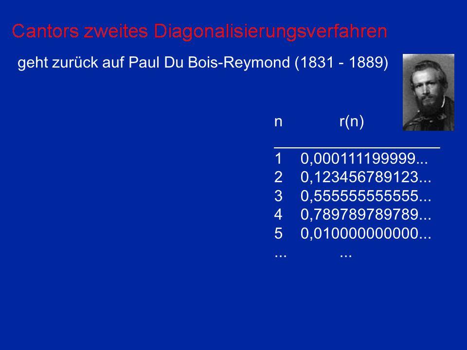 geht zurück auf Paul Du Bois-Reymond (1831 - 1889) nr(n) ___________________ 10,000111199999...