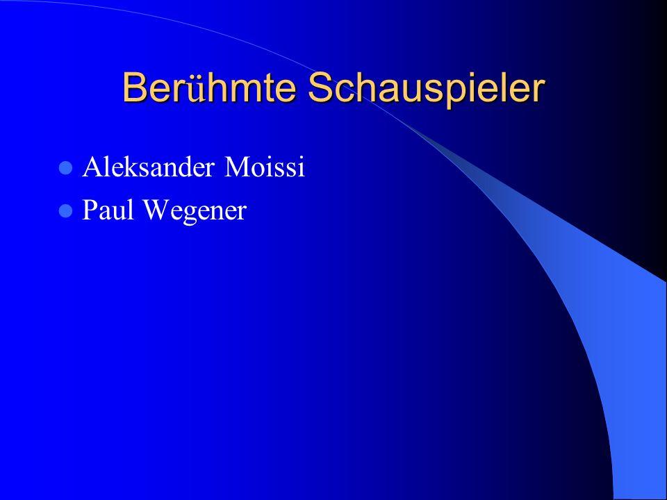 Ber ü hmte Schauspieler Aleksander Moissi Paul Wegener
