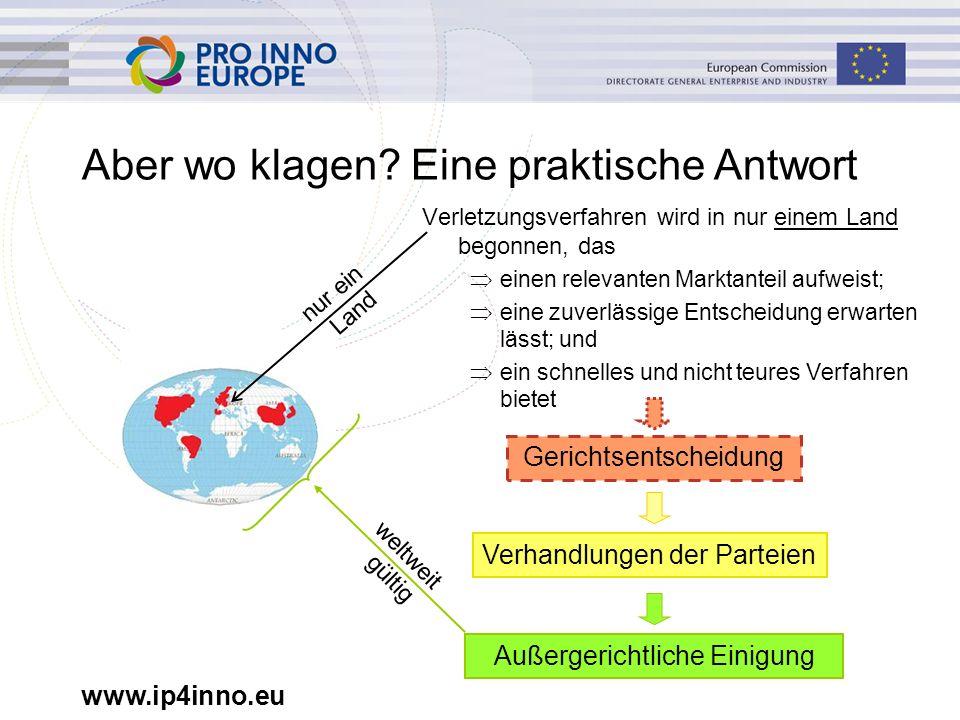 www.ip4inno.eu Aber wo klagen.