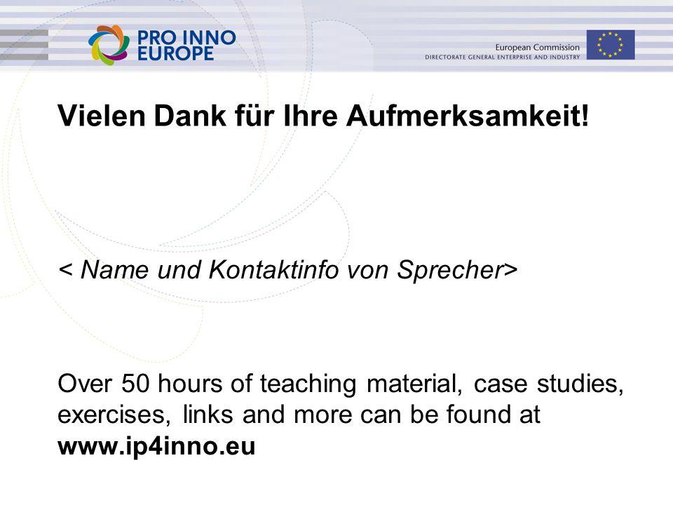 www.ip4inno.eu Vielen Dank für Ihre Aufmerksamkeit.