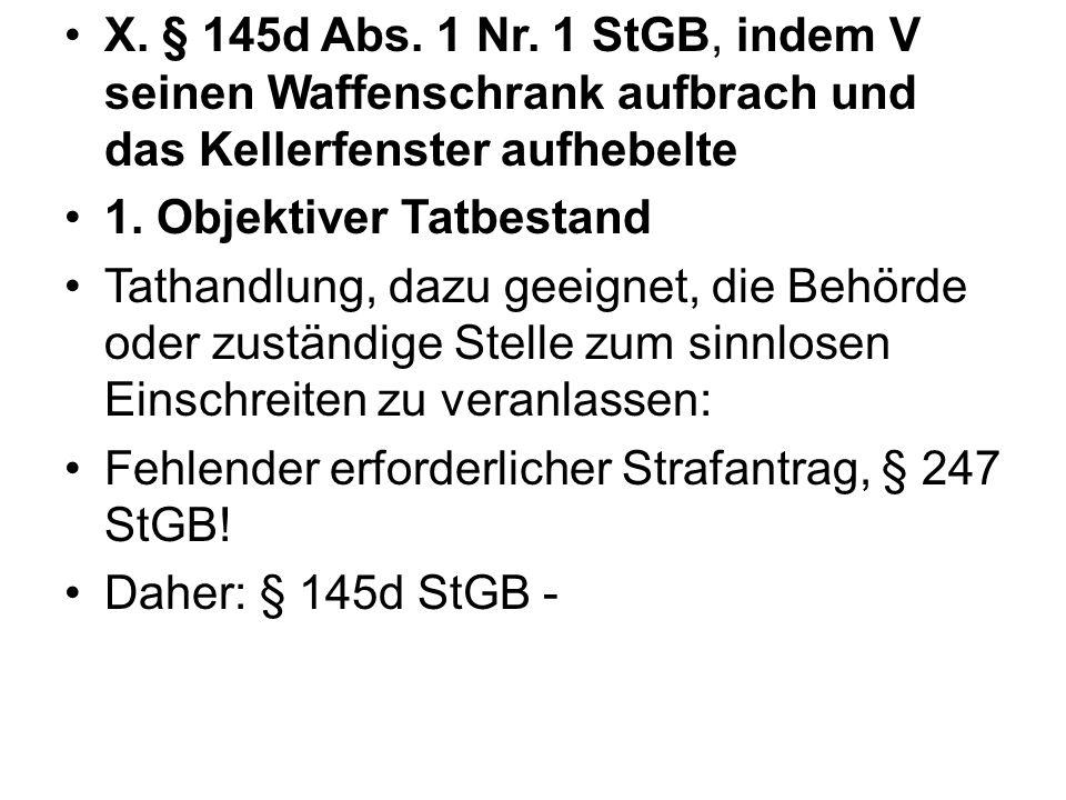 X.§ 145d Abs. 1 Nr.
