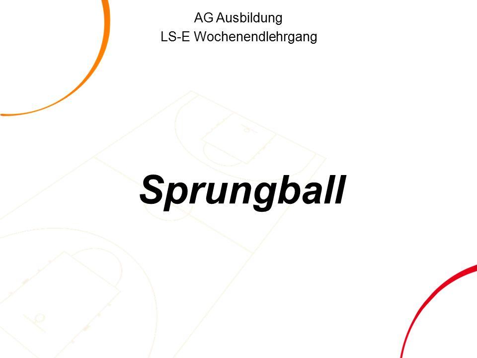 AG Ausbildung LS-E Wochenendlehrgang Sprungball