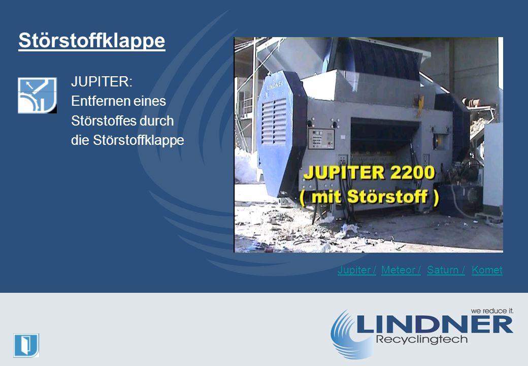 Störstoffklappe JUPITER: Entfernen eines Störstoffes durch die Störstoffklappe Jupiter /Meteor /KometSaturn /