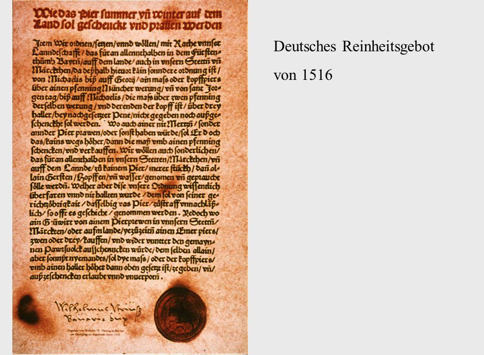 Deutsches Reinheitsgebot von 1516