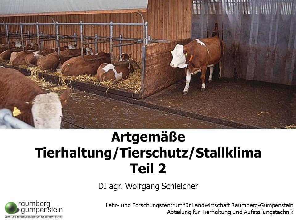 Wolfgang SchleicherLFZ Raumberg-Gumpenstein, Abt. Tierhaltung u. Aufstallungstechnik Höhere Bundeslehr- und Forschungsanstalt Raumberg-Gumpenstein Abt