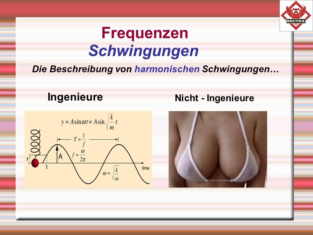 Frequenzen Schwingungen Die Beschreibung von harmonischen Schwingungen… Ingenieure Nicht - Ingenieure