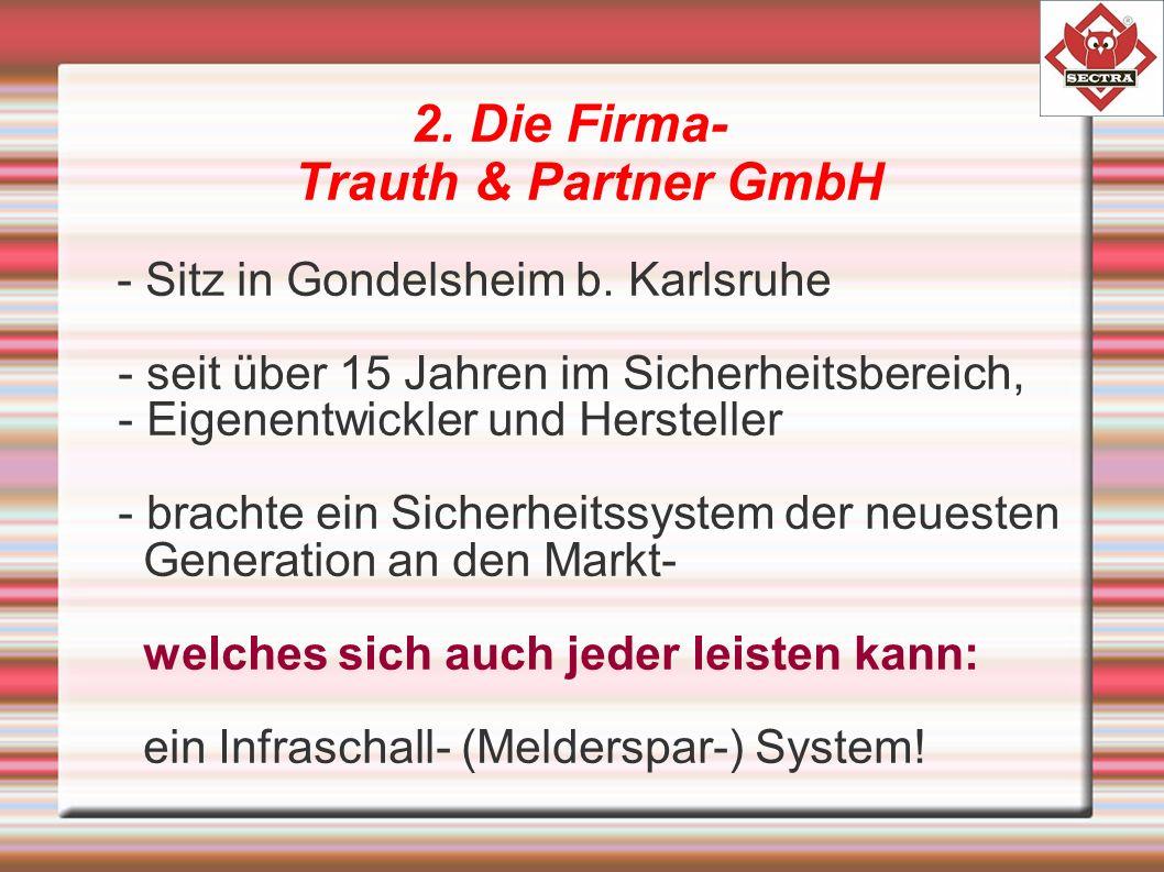 2. Die Firma- Trauth & Partner GmbH - Sitz in Gondelsheim b.