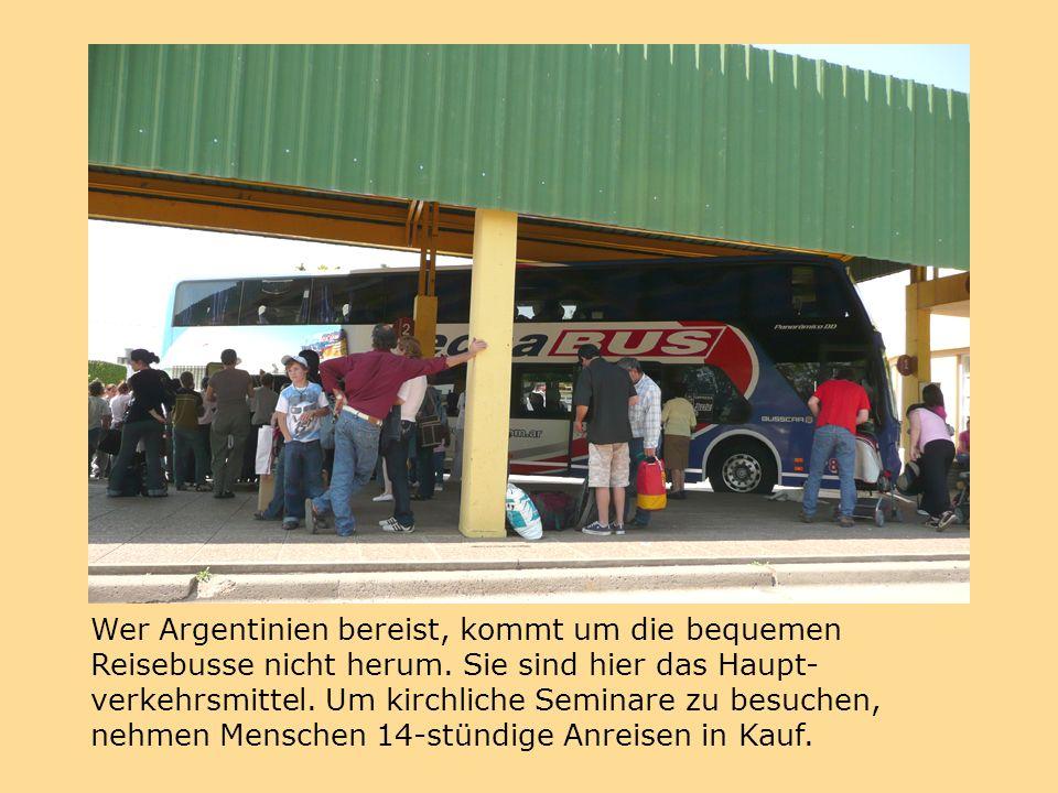 Wer Argentinien bereist, kommt um die bequemen Reisebusse nicht herum.