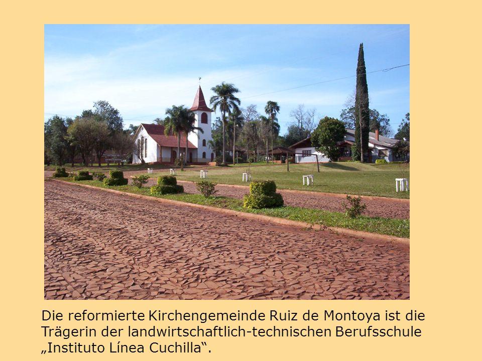 """Die reformierte Kirchengemeinde Ruiz de Montoya ist die Trägerin der landwirtschaftlich-technischen Berufsschule """"Instituto Línea Cuchilla ."""