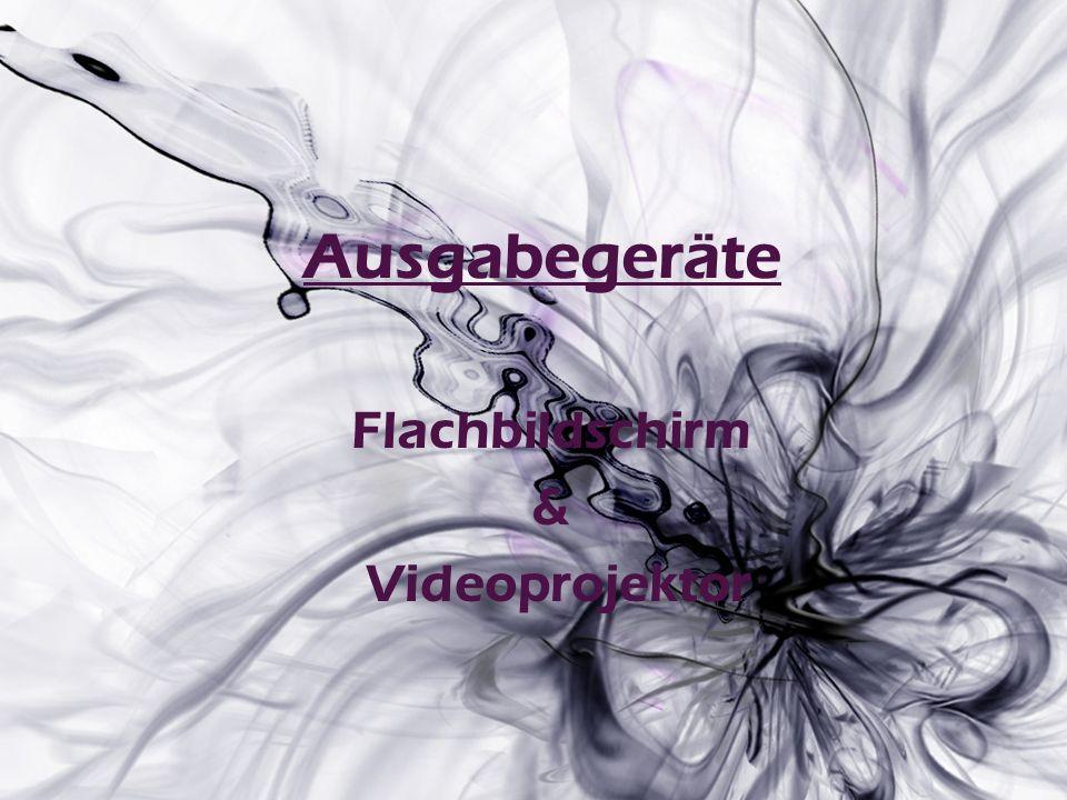 Ausgabegeräte Flachbildschirm & Videoprojektor