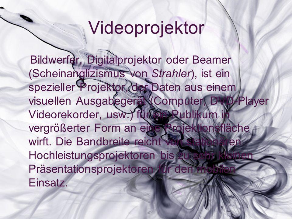 Bildwerfer, Digitalprojektor oder Beamer (Scheinanglizismus von Strahler), ist ein spezieller Projektor, der Daten aus einem visuellen Ausgabegerät (Computer, DVD-Player Videorekorder, usw.) für ein Publikum in vergrößerter Form an eine Projektionsfläche wirft.