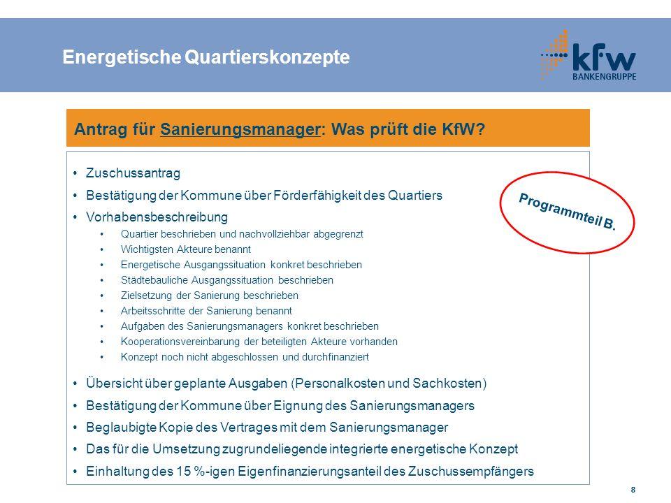 888888 Antrag für Sanierungsmanager: Was prüft die KfW.