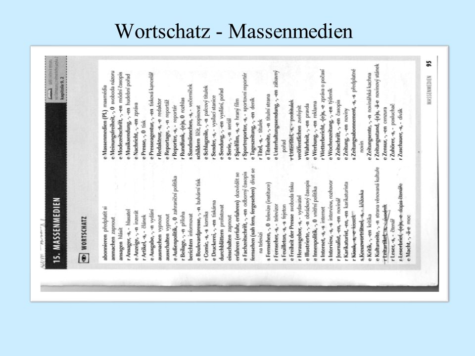Použité zdroje a literatura Johannes Schumann, MITTELSTUFE DEUTSCH, Huber 2006 Cvičebnice německé slovní zásoby, didaktis