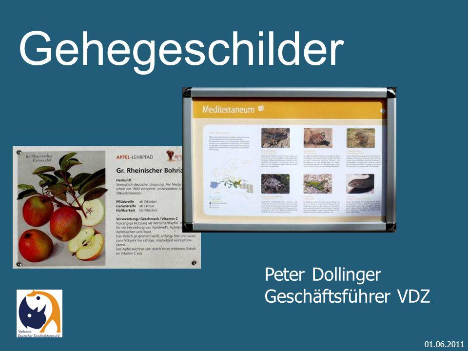 Gehegeschilder Peter Dollinger Geschäftsführer VDZ 01.06.2011