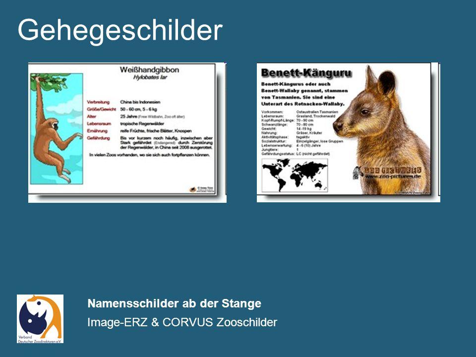 Gehegeschilder Namensschilder ab der Stange Image-ERZ & CORVUS Zooschilder