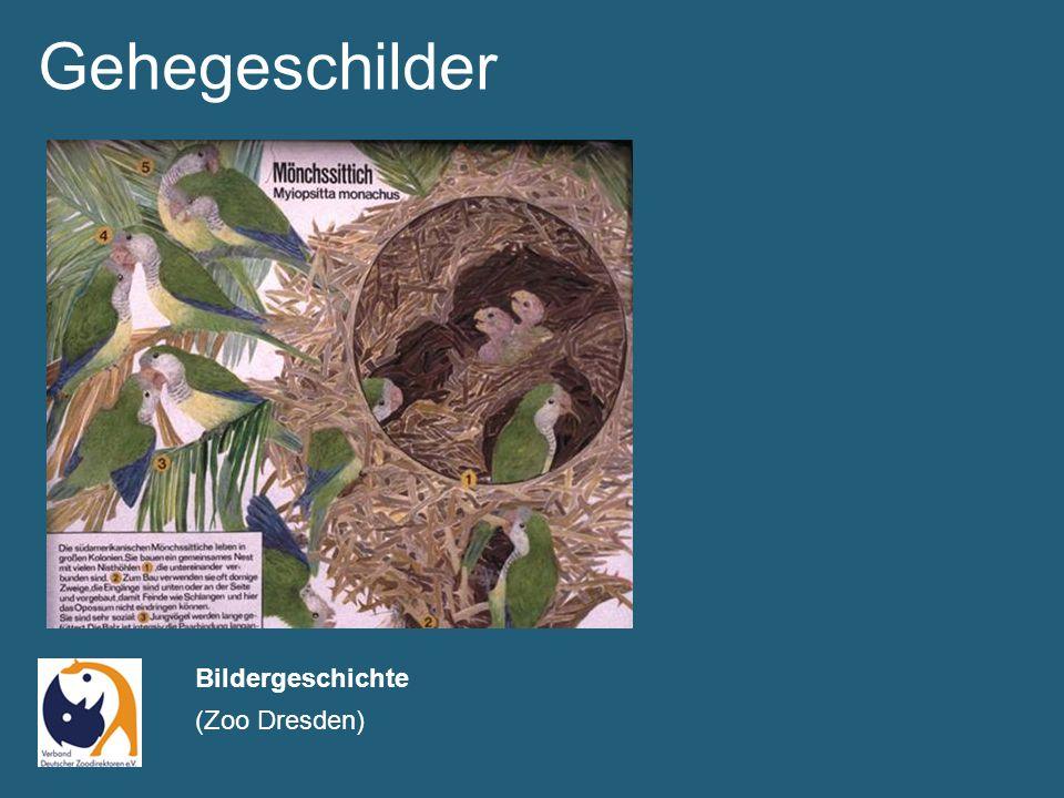 Gehegeschilder Bildergeschichte (Zoo Dresden)