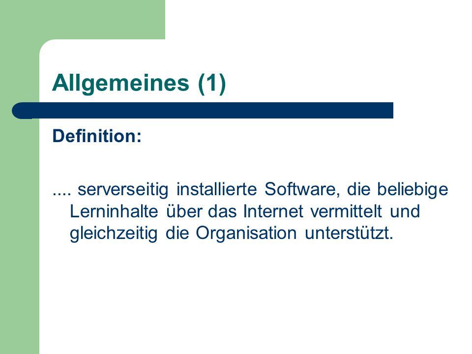 Allgemeines (1) Definition:....