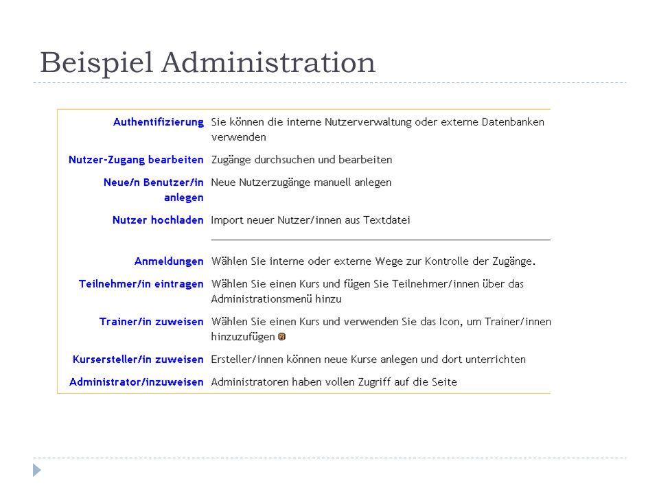 Beispiel Administration