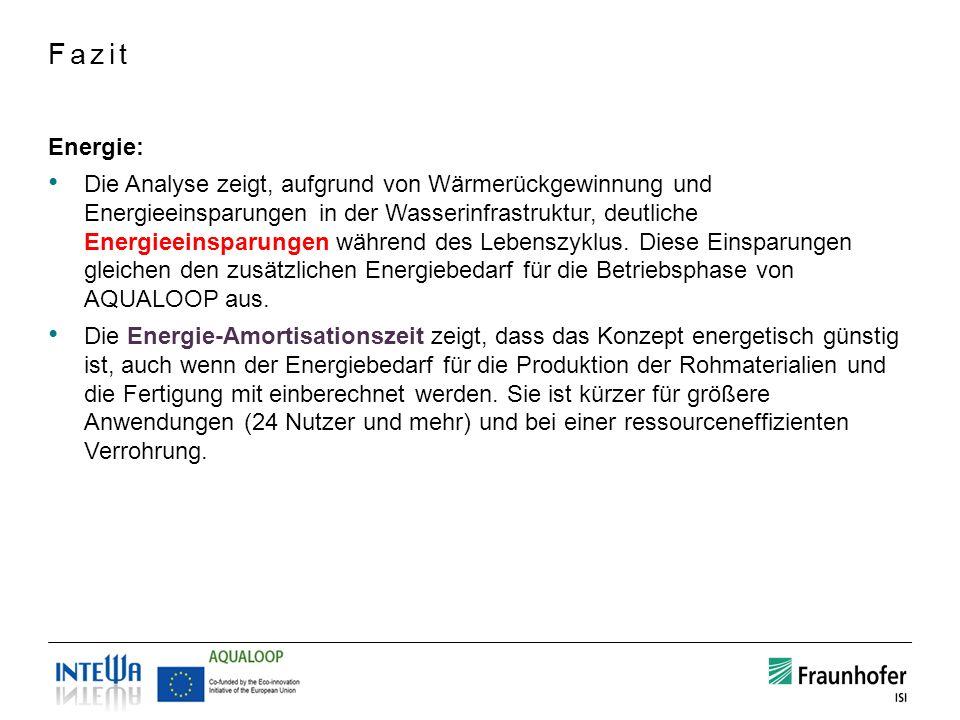 Energie: Die Analyse zeigt, aufgrund von Wärmerückgewinnung und Energieeinsparungen in der Wasserinfrastruktur, deutliche Energieeinsparungen während