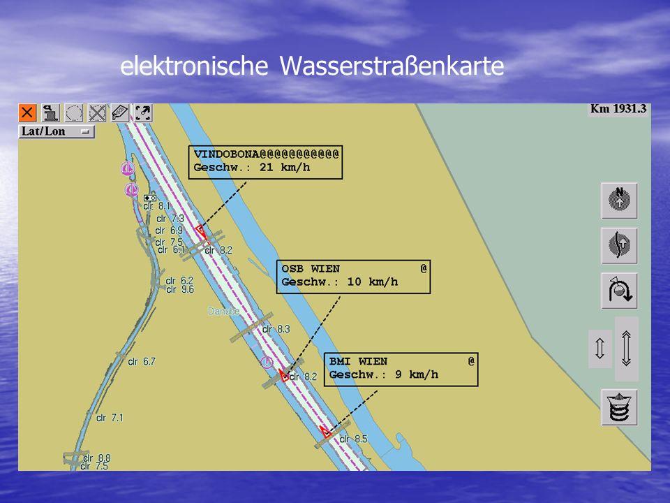elektronische Wasserstraßenkarte