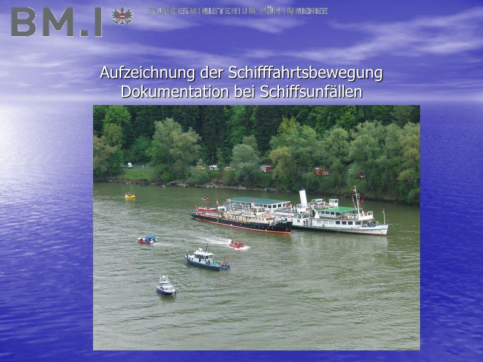 Aufzeichnung der Schifffahrtsbewegung Dokumentation bei Schiffsunfällen