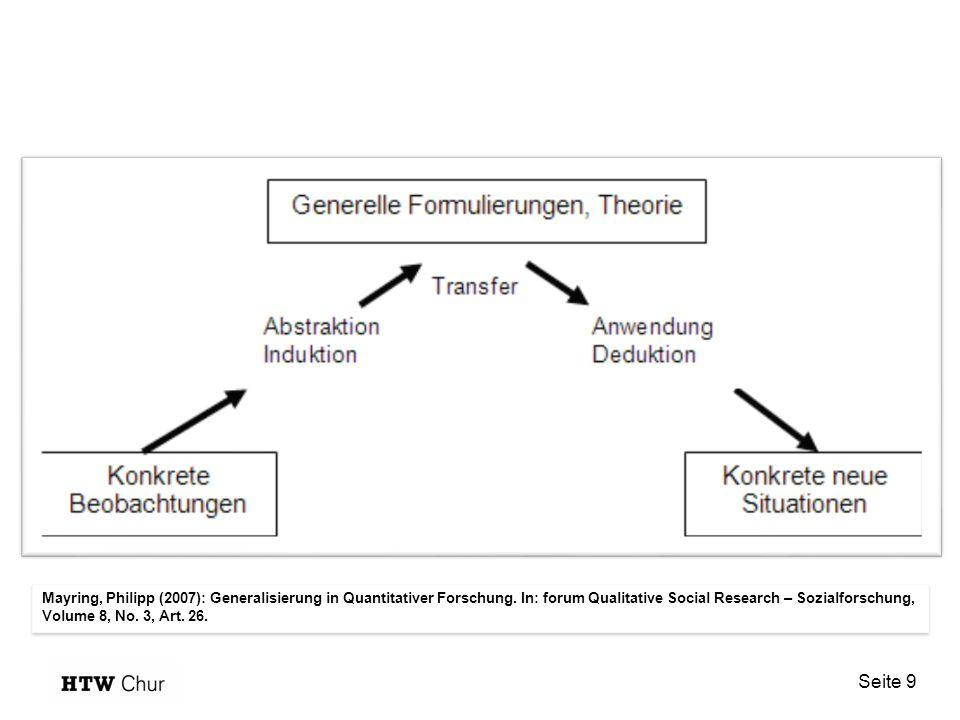 Seite 9 Mayring, Philipp (2007): Generalisierung in Quantitativer Forschung.
