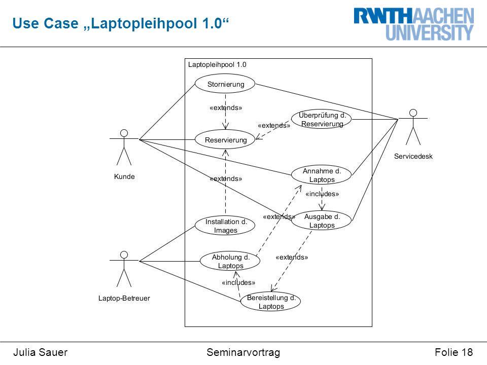 "SeminarvortragJulia SauerFolie 18 Use Case ""Laptopleihpool 1.0"""