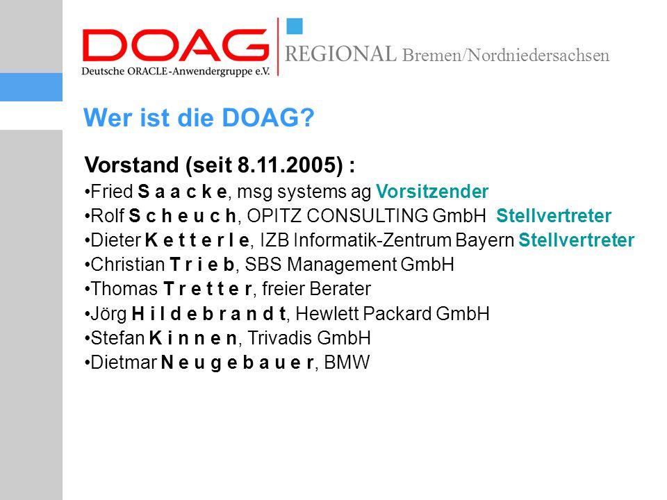 Bremen/Nordniedersachsen Wer ist die DOAG.