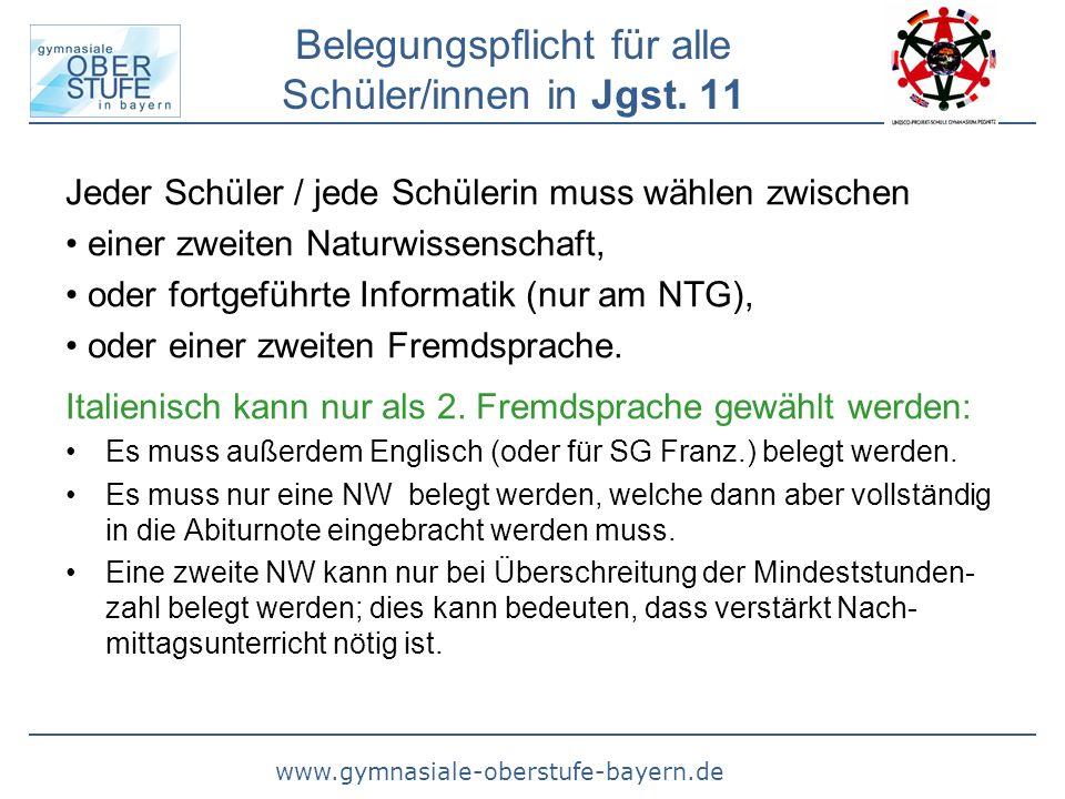 www.gymnasiale-oberstufe-bayern.de Belegungspflicht in Jgst.