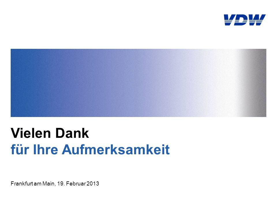 Vielen Dank für Ihre Aufmerksamkeit Frankfurt am Main, 19. Februar 2013