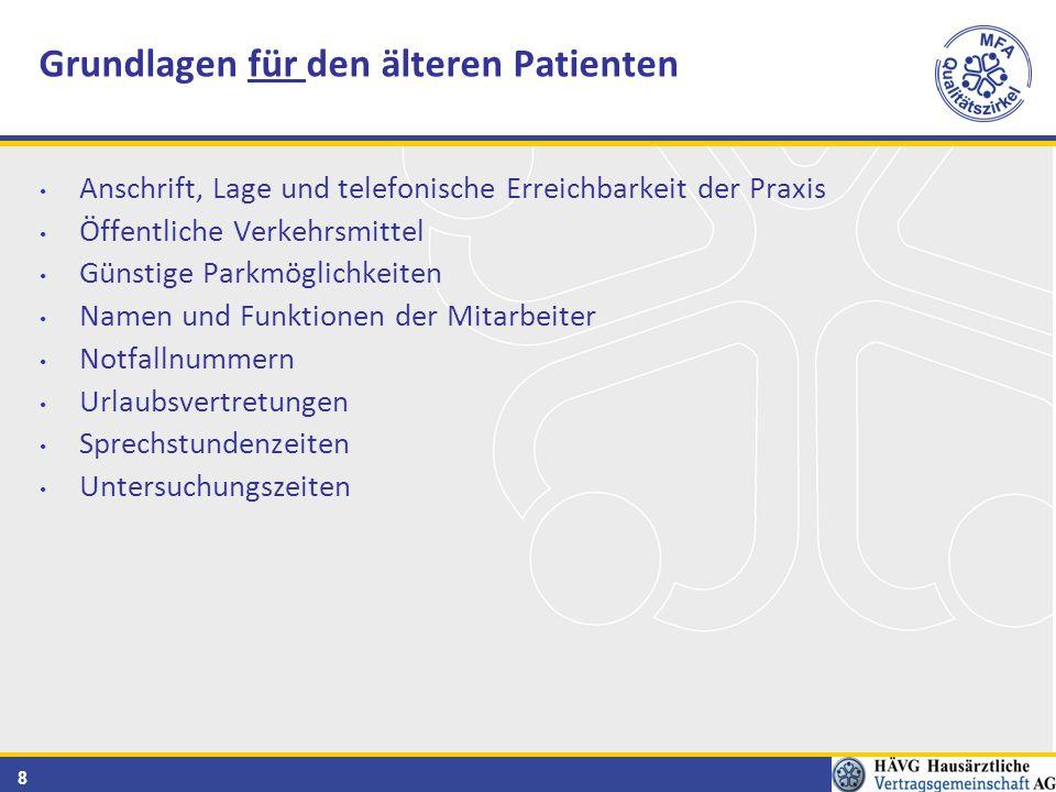 19 Was der Patient aus der Praxis mitnimmt - mündliche und schriftliche Informationen Wie nimmt der Patient die Informationen mit.
