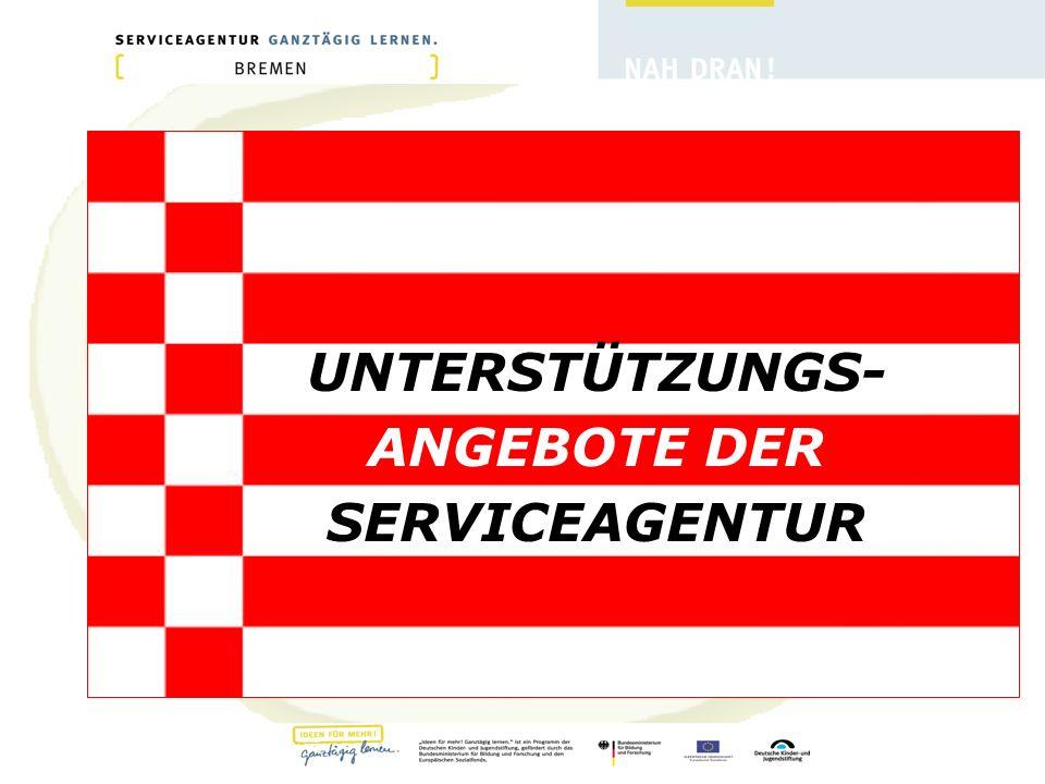 UNTERSTÜTZUNGS- ANGEBOTE DER SERVICEAGENTUR