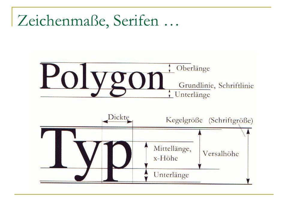 Dickte Die Dickte der verschiedenen Zeichen ist bei den meisten Druckschriften unterschiedlich.