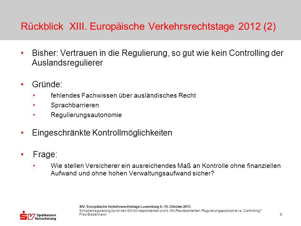 XIV.Europäische Verkehrsrechtstage Luxemburg 9.-10.