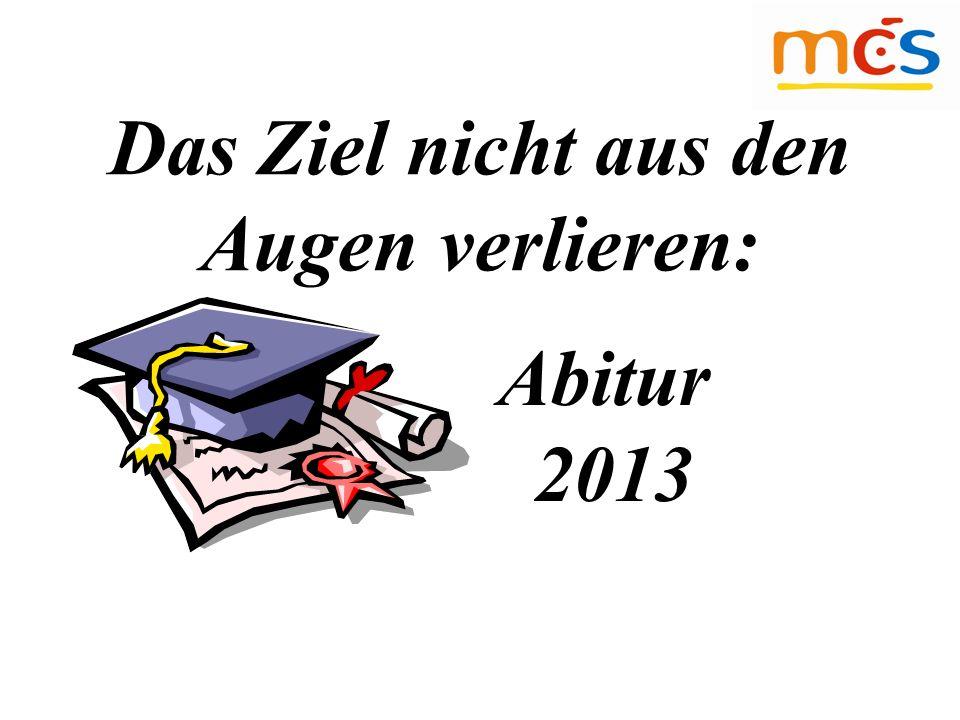 Das Ziel nicht aus den Augen verlieren: Abitur 2013