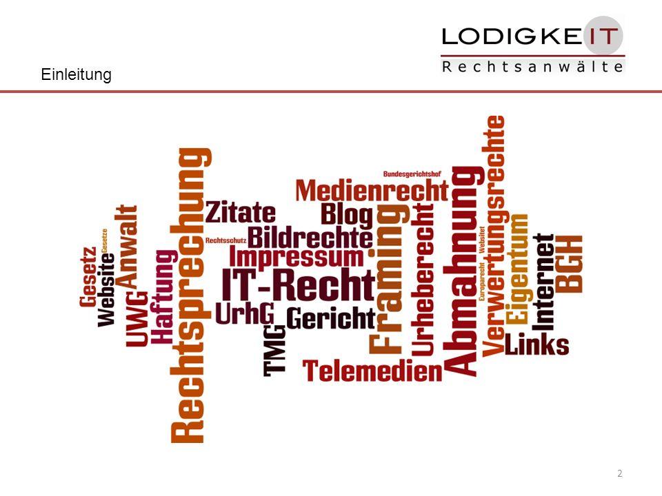 3 Rechtliche Blog-Optimierung Einleitung 1.Die Impressumspflicht 2.