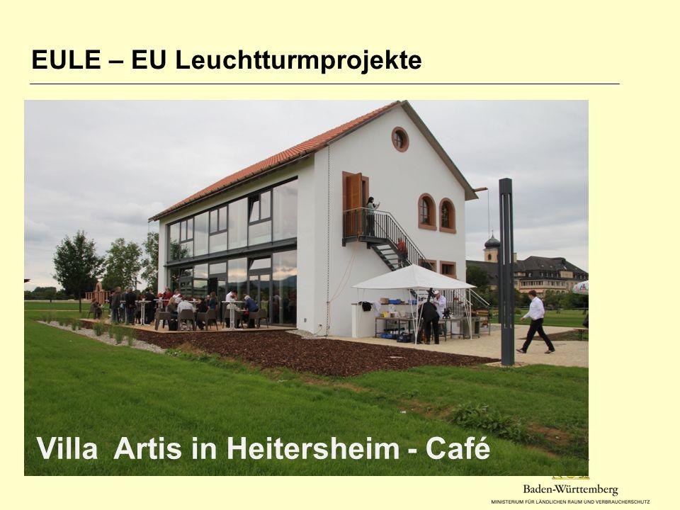 EULE – EU Leuchtturmprojekte Villa Artis in Heitersheim - Café