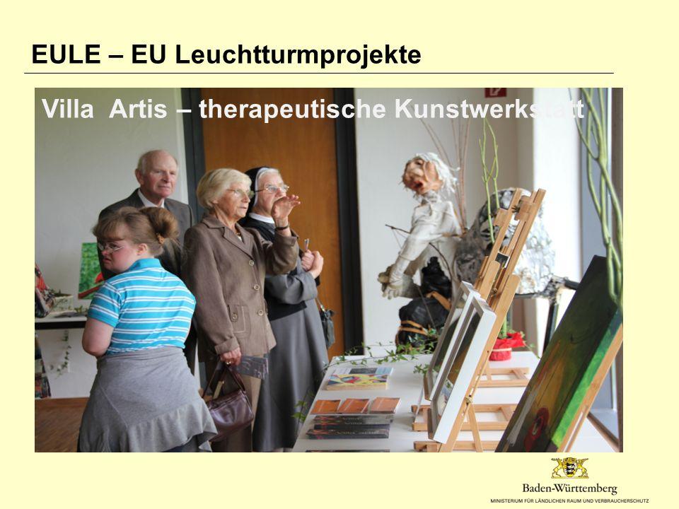 EULE – EU Leuchtturmprojekte Villa Artis – therapeutische Kunstwerkstatt
