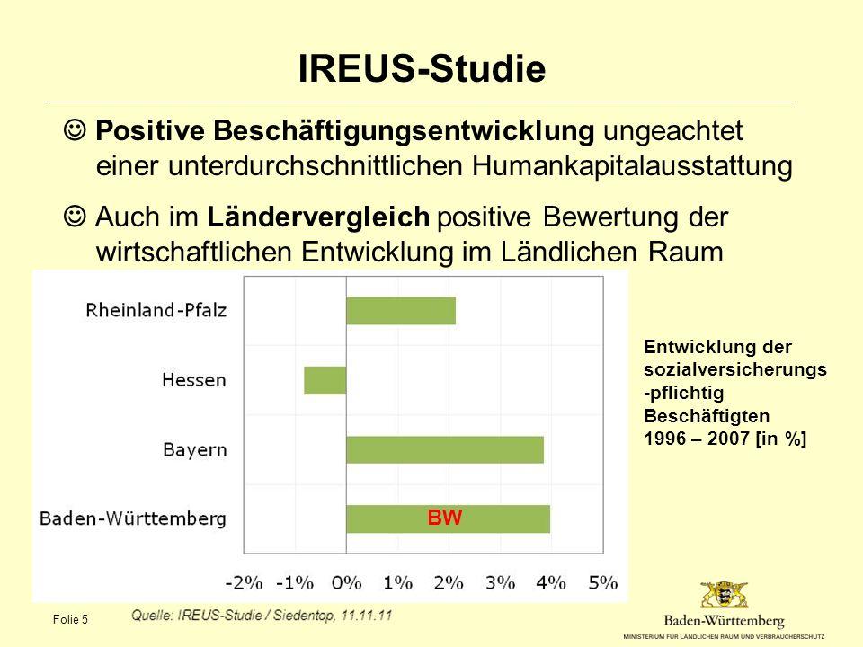 IREUS-Studie Positive Beschäftigungsentwicklung ungeachtet einer unterdurchschnittlichen Humankapitalausstattung Auch im Ländervergleich positive Bewe