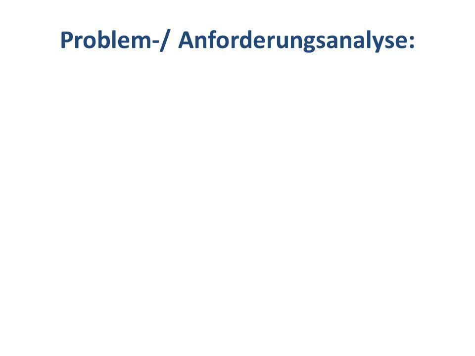 Problem-/ Anforderungsanalyse: