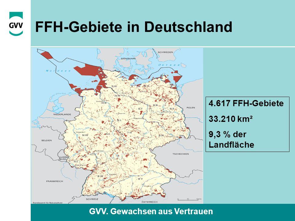 GVV. Gewachsen aus Vertrauen FFH-Gebiete in Deutschland 4.617 FFH-Gebiete 33.210 km² 9,3 % der Landfläche